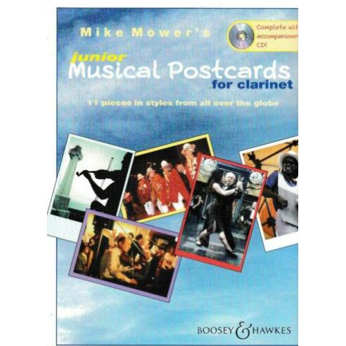 Junior Musical Postcards For Clarinet Met CD (x411)