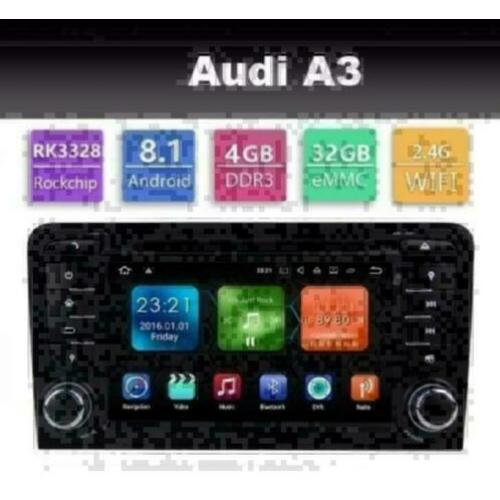 Audi A3 radio navigatie carkit android 8.1 dvd gps wifi dab+